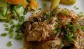 Bastones de Pechuga de Pollo al Limón con Champiñones