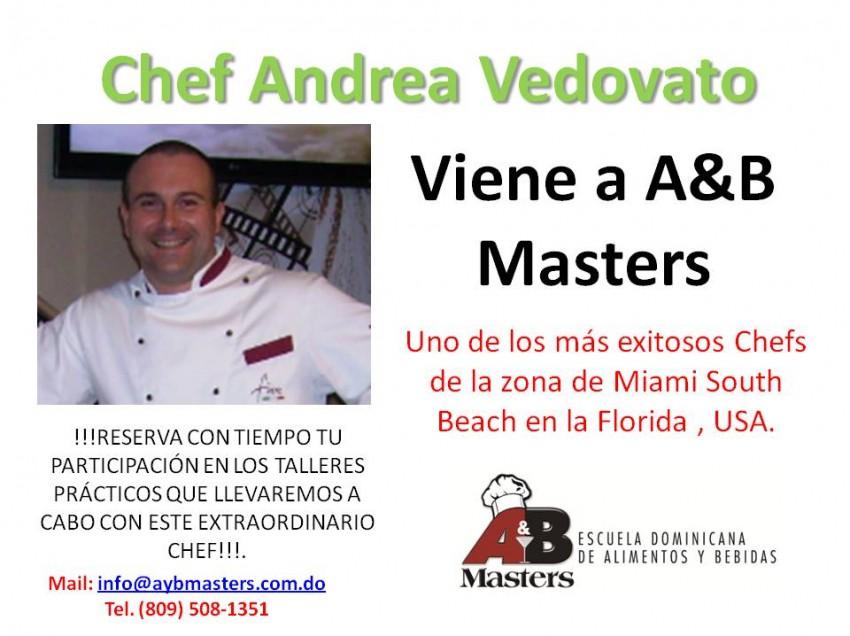 A&B Masters Imparte Taller con el Chef Andrea Vedovato