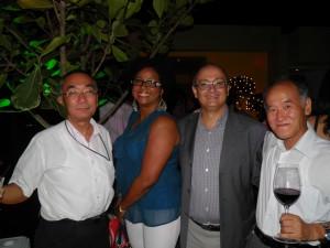 Dr. Hiroshi Yoshimura, La Chefa, Mario Núñez y Sr. Takujil Tomono