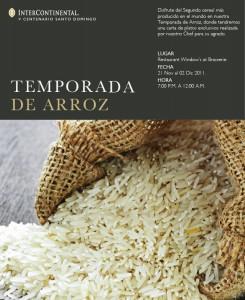 TEMPORADA DE ARROZ