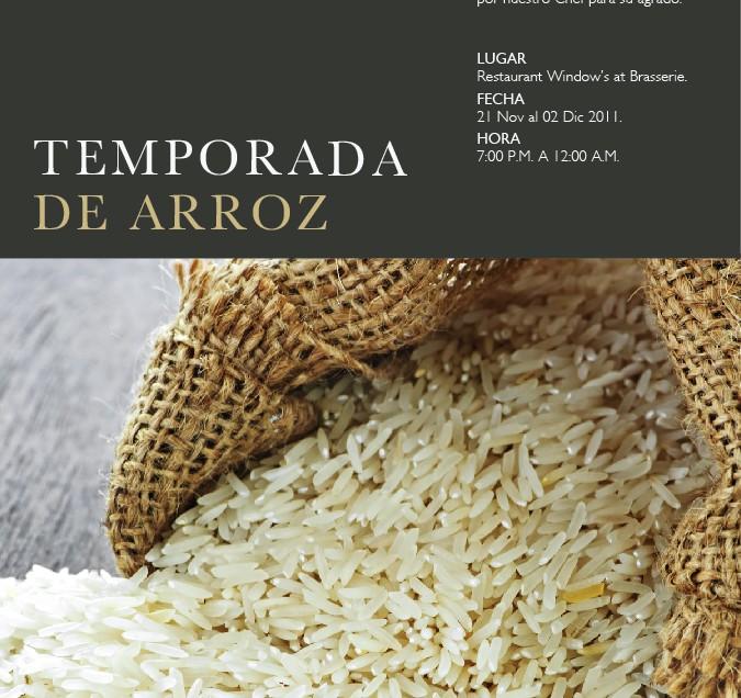 Hotel InterContinental V Centenario celebrará el Festival de Arroz
