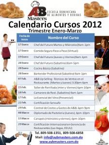 A&B Masters Calendario Cursos 2012
