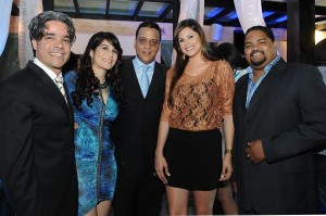 Gregori Rodriguez, Laura Soñe, Luis Eduardo Alcantara, Renata Soñe y Oscar Carrasquillo