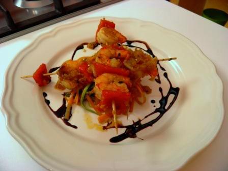 Vídeo receta Brochetas de Camarones