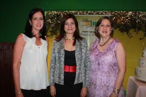 Julie Guerra de Oller, Luisa Feliz y Rosanna Dargam