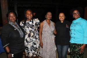 La Chefa y Chef T con autoridades femeninas de la región
