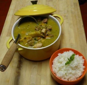 Remedios recetas y mas sancocho de guandules al coco for Chambre de guandules dominicano