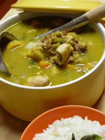 sancocho de guandules al cocococina caribe cocina caribe