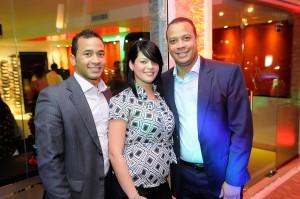 Anibal Castillo, Anyely Melo y Ivan Castillo