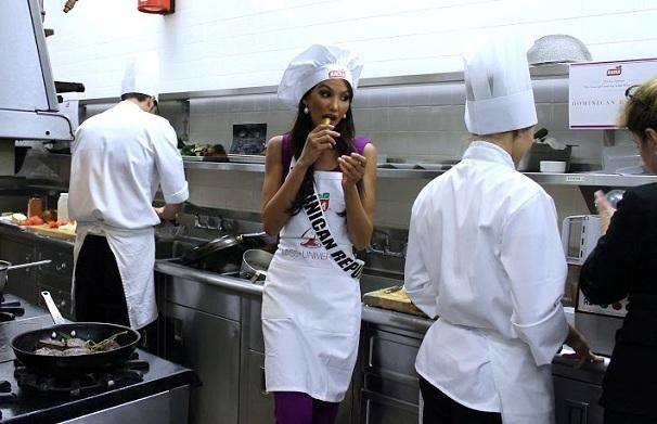 Miss República Dominicana gana competencia de cocina